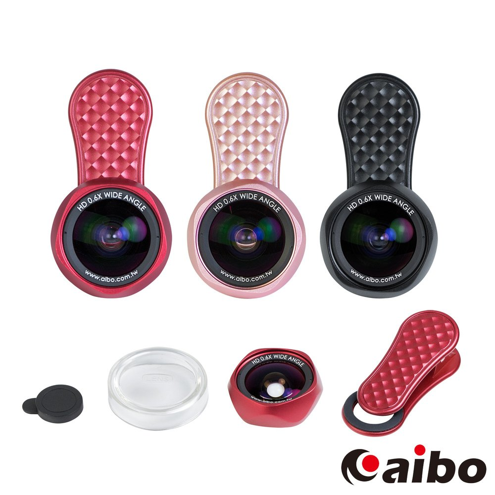 aibo K36X1 玫瑰花形0.6X廣角抗變形手機特效鏡頭