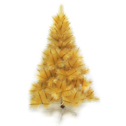 【摩達客】台灣製7尺/7呎(210cm)特級金色松針葉聖誕樹裸樹 (不含飾品)(不含燈)