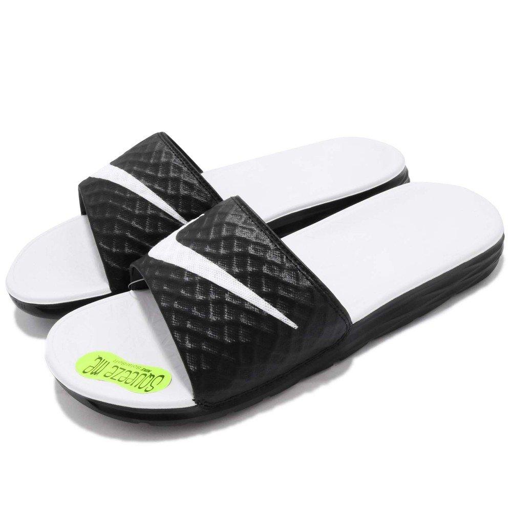 NIKE 拖鞋 Benassi Solarsoft 男 女 鞋 運動 拖鞋 黑白 基本款 輕便 柔軟 [705475-010]