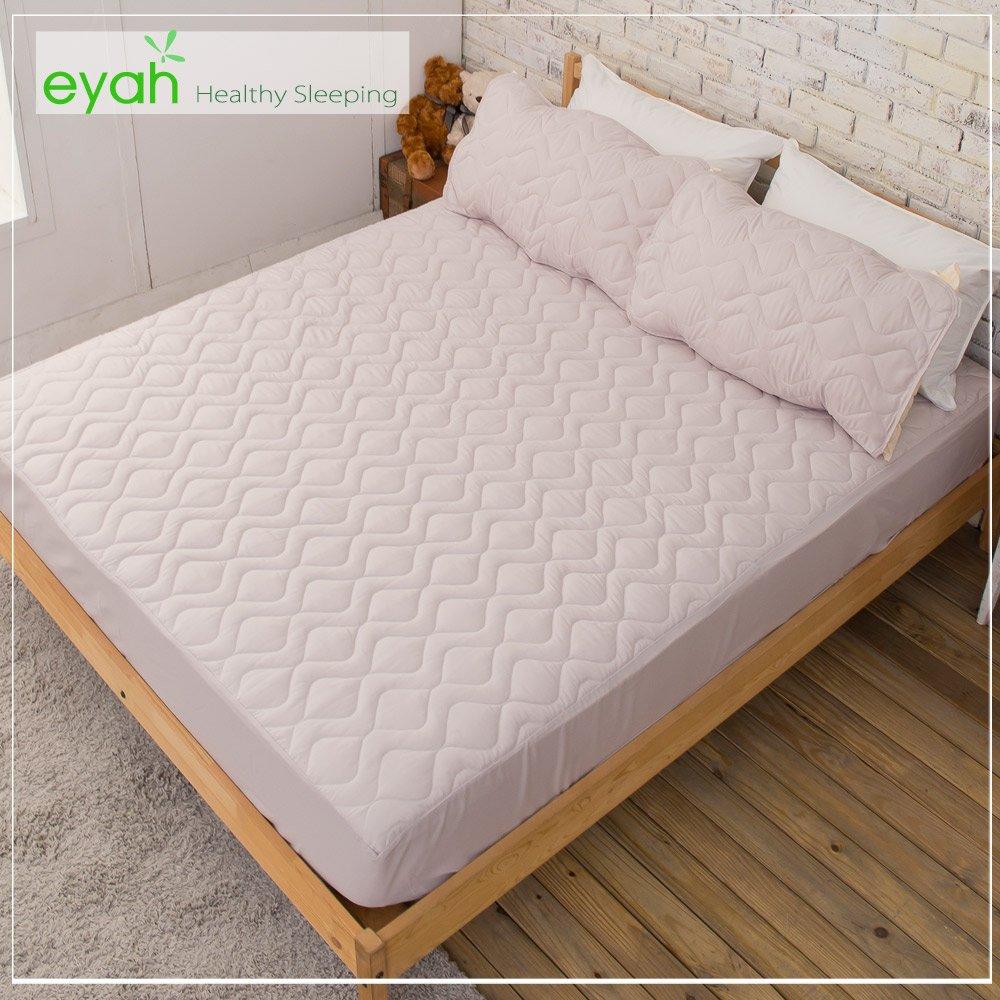 【eyah】純色保潔墊床包式雙人加大-(紳士灰)