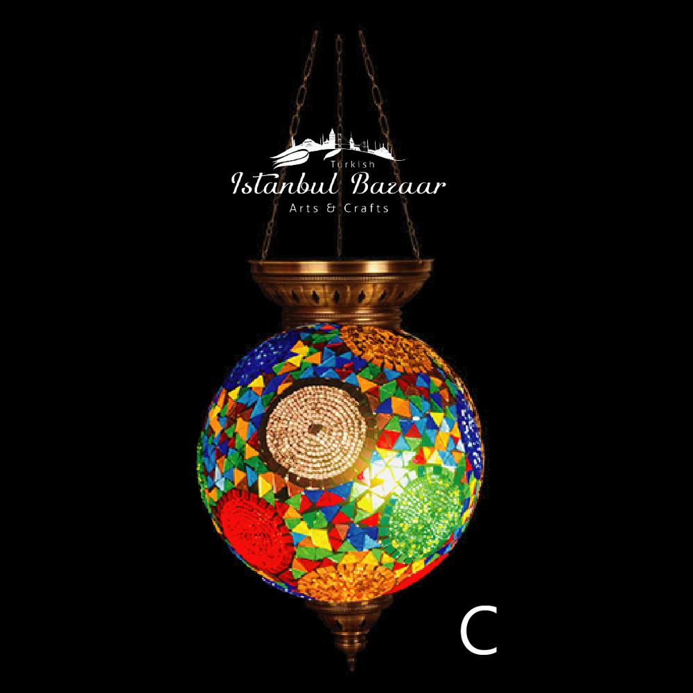 馬賽克吊燈 彩色玻璃燈 吧台燈 蛋形直徑35cmnka200