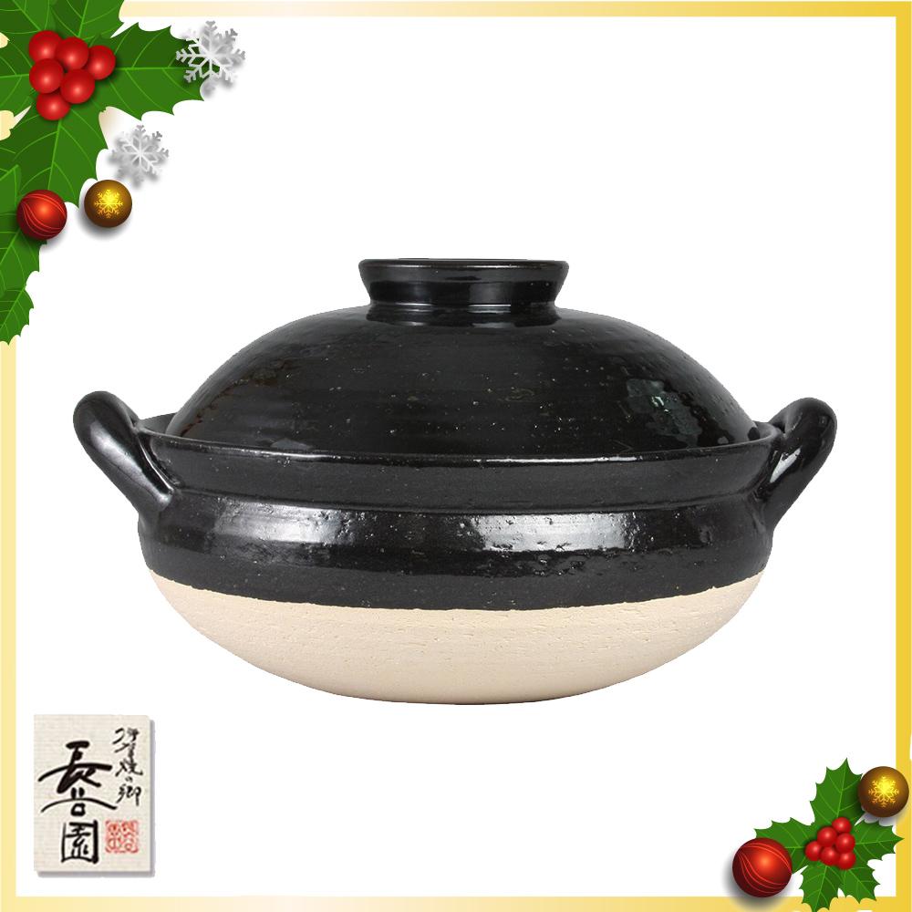 【日本長谷園伊賀燒】火鍋必備冷熱兩用多功能調理健康蒸煮鍋(3-5人)