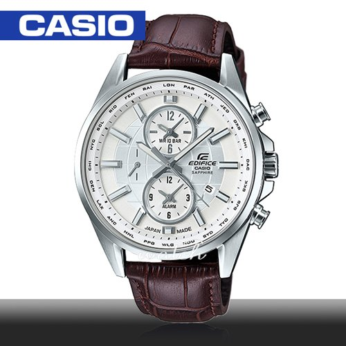 【CASIO 卡西歐 EDIFICE 系列】日系搶眼設計 多重指針 藍寶石水晶 時尚紳士腕錶(EFB-302JL)