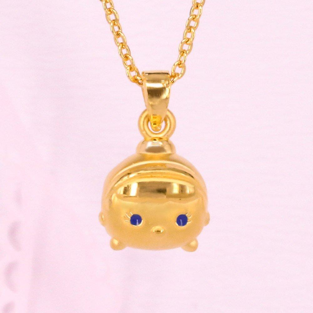 迪士尼系列金飾-TSUM TSUM造型黃金墜子-仙杜瑞拉款(加贈金色鋼鍊)
