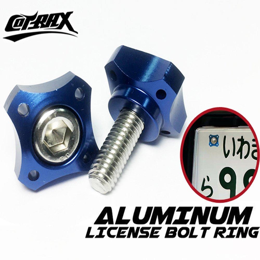 【Cotrax】精緻系鋁合金牌照螺絲-十字款(藍色)
