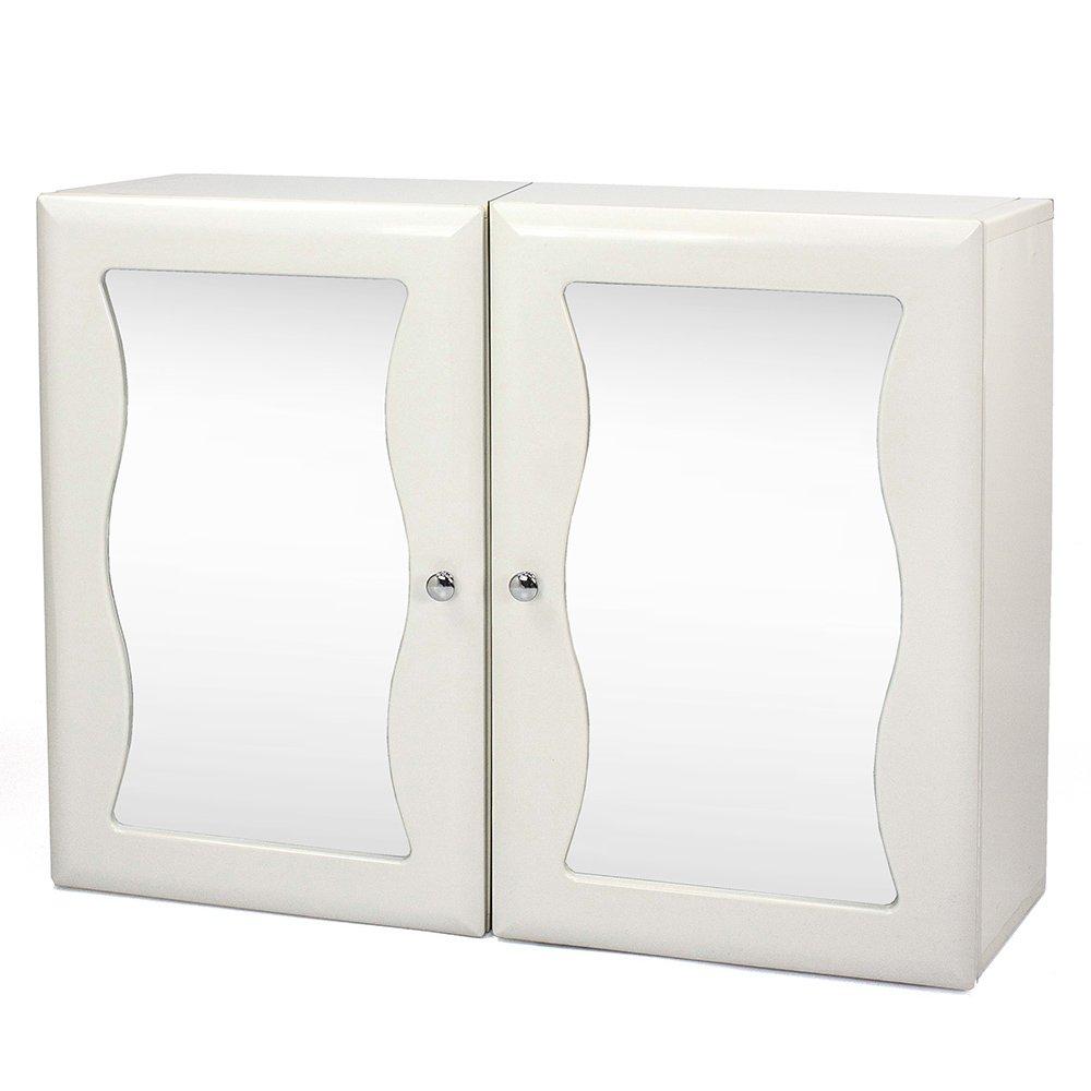 Aaronation - 愛倫國度安全防爆玻璃浴鏡 雙門鏡櫃 - GU-C1010WAX2