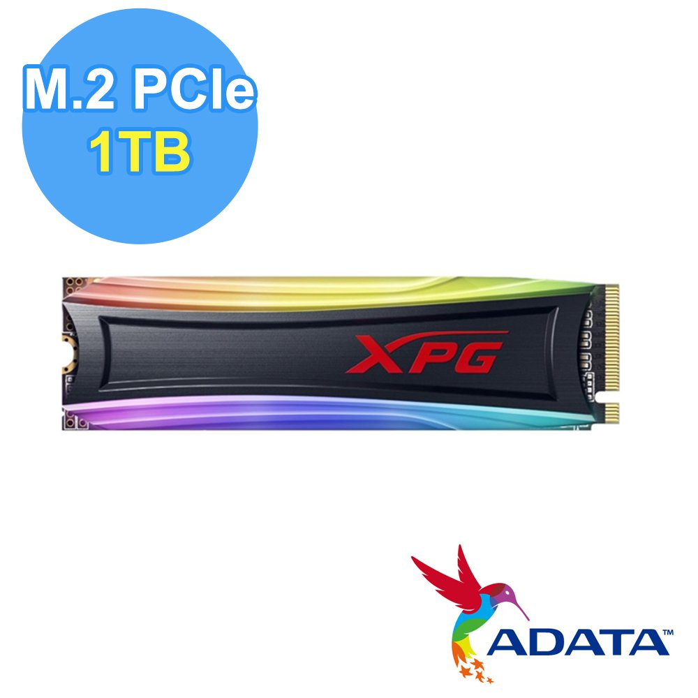 ADATA 威剛 XPG SPECTRIX S40G 1TB RGB M.2 PCIe SSD固態硬碟