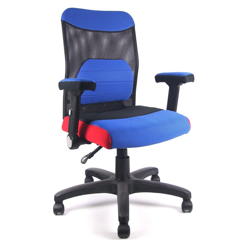 DR. AIR 人體工學氣墊辦公網椅-藍