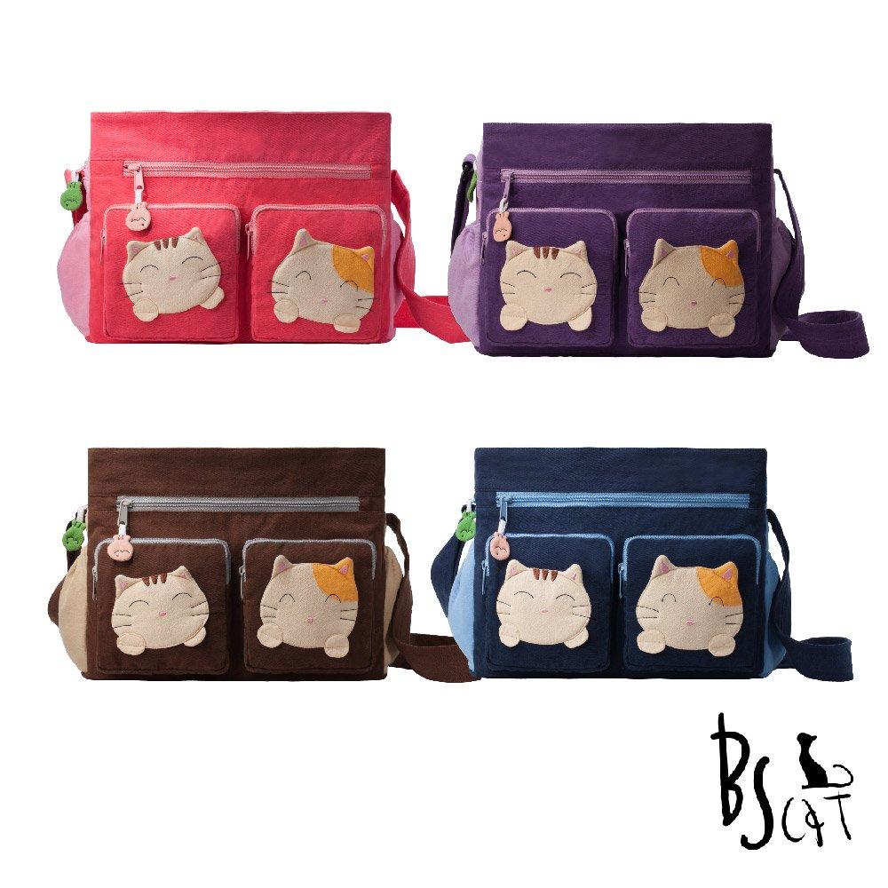 ABS貝斯貓可愛貓咪拼布 肩背包 斜揹包88-217