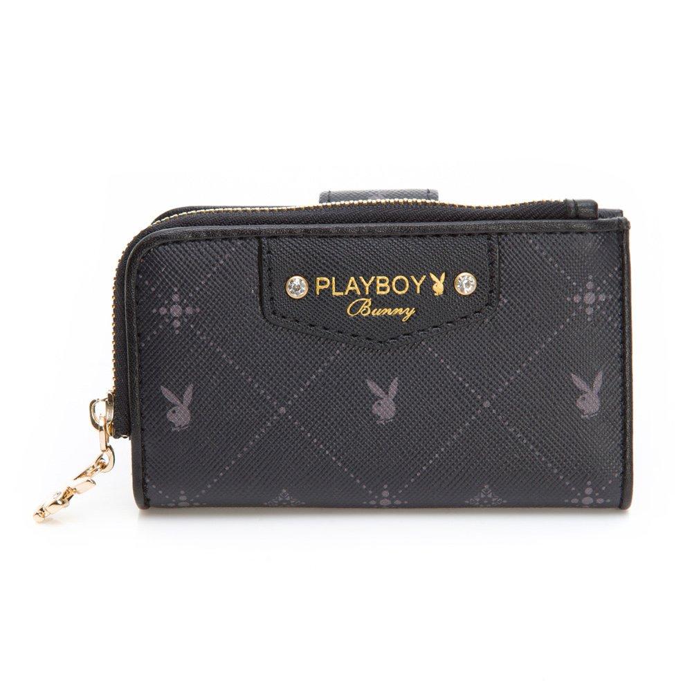 PLAYBOY- 鑰匙零錢包 Black Beauty 黑晶兔系列-明星黑