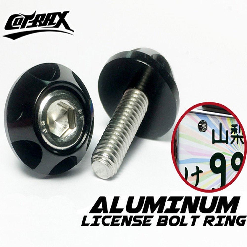 【Cotrax】精緻系鋁合金牌照螺絲-圓輪款(黑色)
