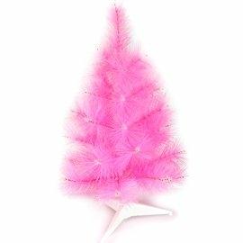摩達客-台灣製2尺/2呎(60cm)特級粉紅色松針葉聖誕樹裸樹 (不含飾品)(不含燈) (本島免運費)