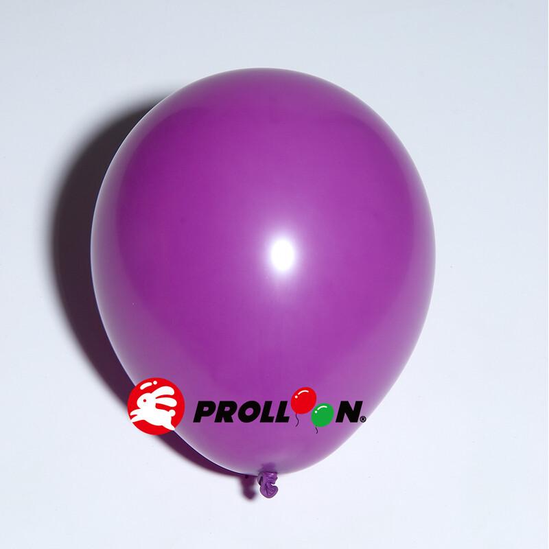 大倫氣球12吋糖果色 圓形氣球 100顆裝 葡萄紫 台灣製造 安全無毒