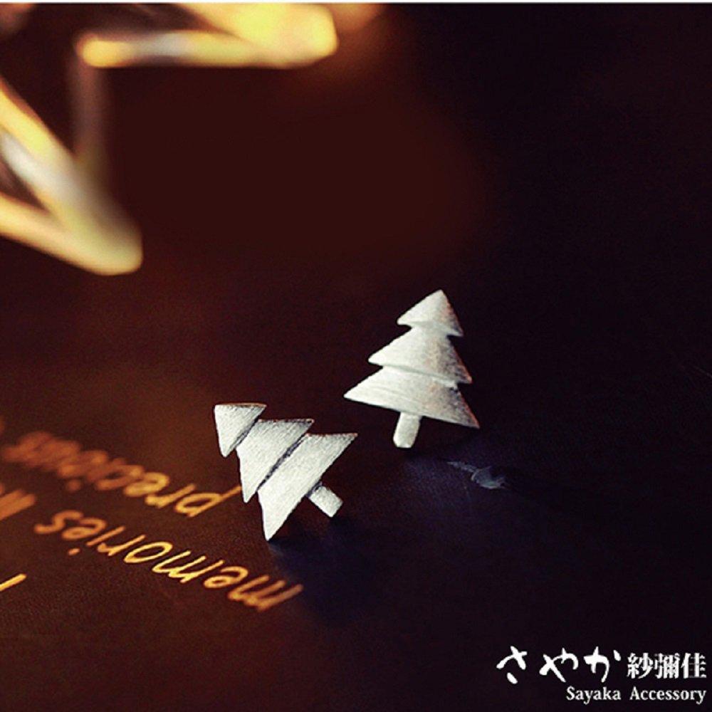 【Sayaka紗彌佳】純銀 耶誕元素麋鹿角耳環