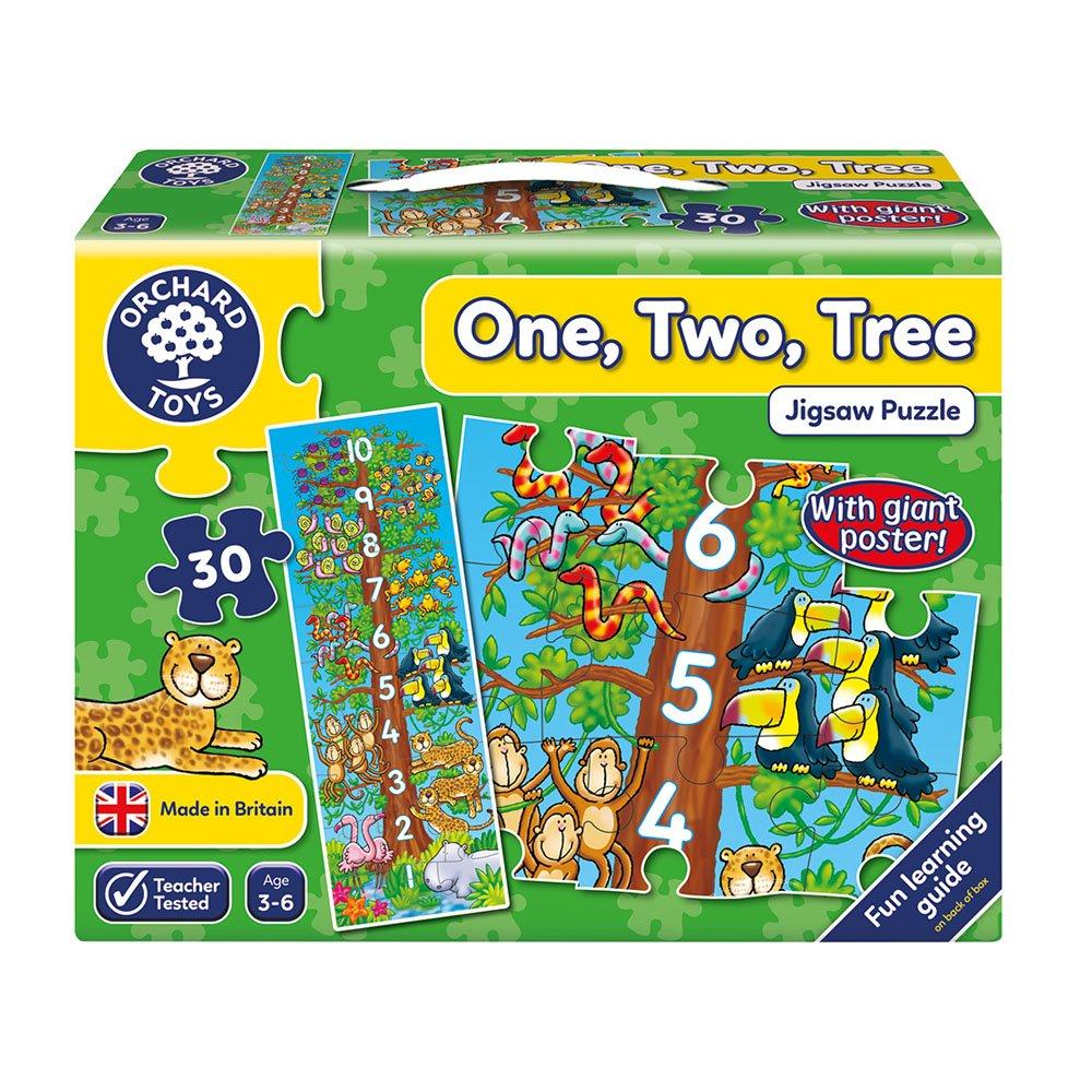 【英國Orchard Toys】遊戲拼圖-數樹123