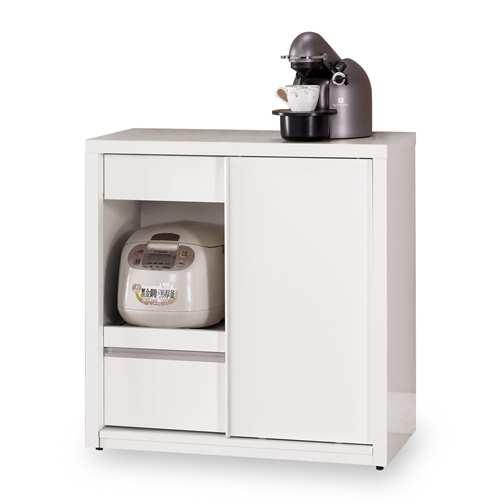 【時尚屋】[C7]卡洛琳2.6尺拉門收納櫃C7-935-3免組裝/免運費
