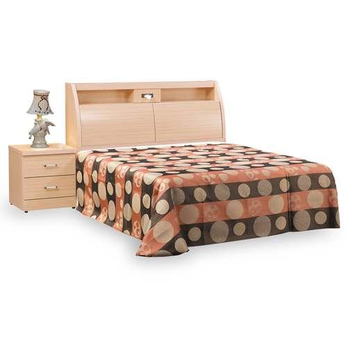 【時尚屋】[G18]菲利普白橡5尺雙人床G18-065-2+035-3不含床頭櫃-床墊/免運費/免組裝