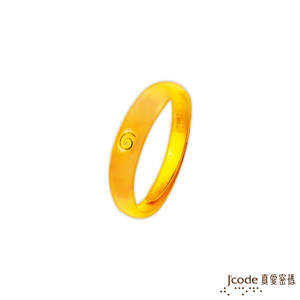 J'code真愛密碼 藏四面風黃金/水晶女戒指