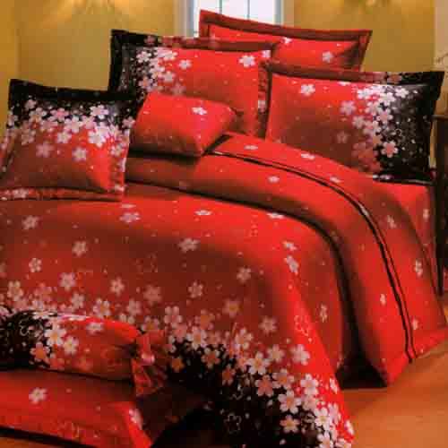 《KOSNEY  花開富貴 》雙人100%活性精梳棉六件式床罩組台灣製