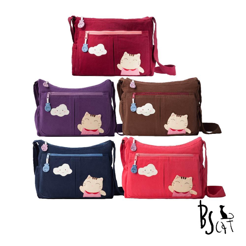 ABS貝斯貓可愛貓咪拼布 肩背包 斜揹包(多色任選)88-210