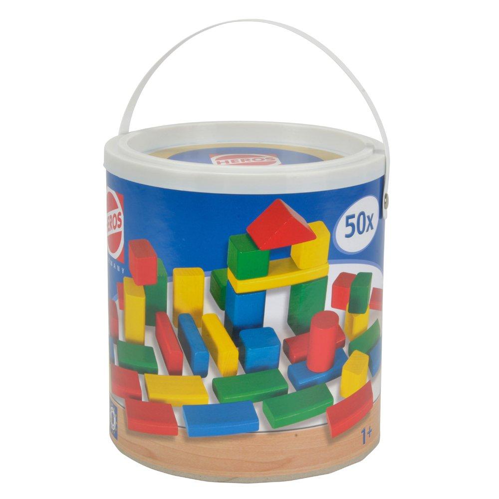 【德國HEROS】50件裝彩色積木桶