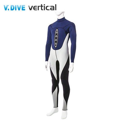 V.DIVE 威帶夫 競技系列 男版高彈超薄潛水服 深藍