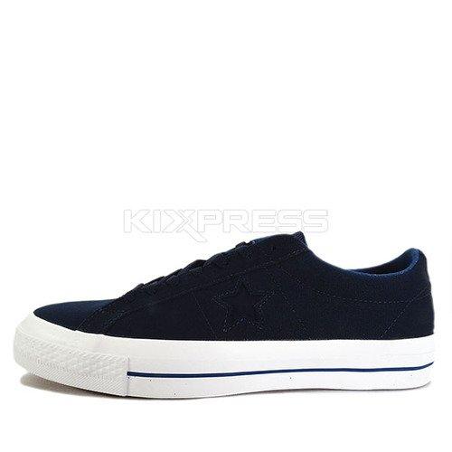 Converse One Star Canvas OX [153708C] 男 女 休閒 經典 帆布鞋  深藍  白