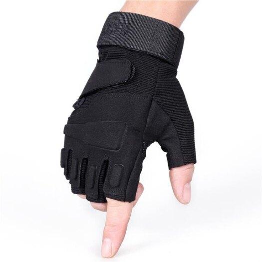 登山半指戰術手套男戶外騎行健身保暖半指手套【嘻哈戶外】 618年中鉅惠