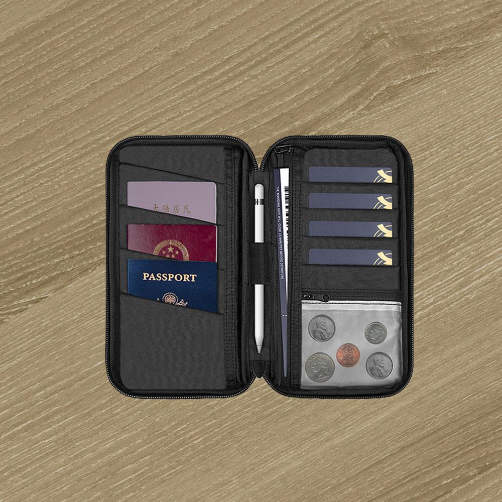 WiWU | Travel Mate 多功能防水旅行證件3C整理包-黑
