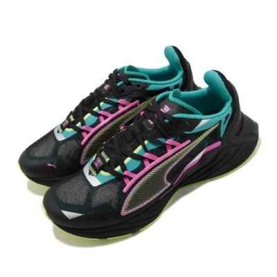 Puma 慢跑鞋 UltraRide FM 運動 女鞋 輕量 透氣 舒適避震 路跑 健身 穿搭 黑 粉 19375901