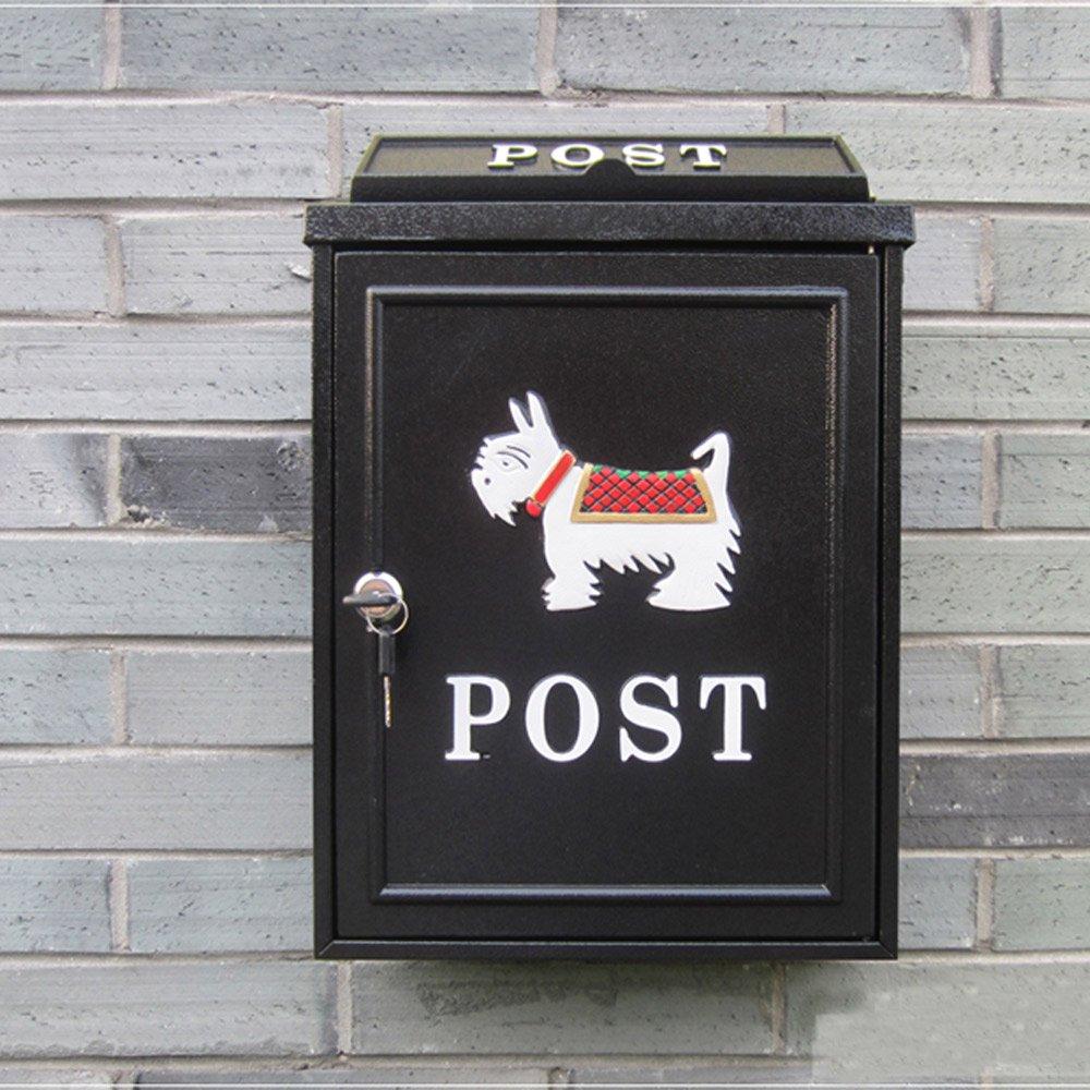 PUSH!居家生活用品 英倫風小狗個性化信箱郵箱郵筒報紙箱I51