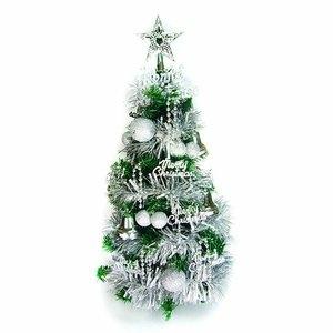 台灣製可愛2呎/2尺(60cm)經典裝飾聖誕樹(銀色系裝飾)