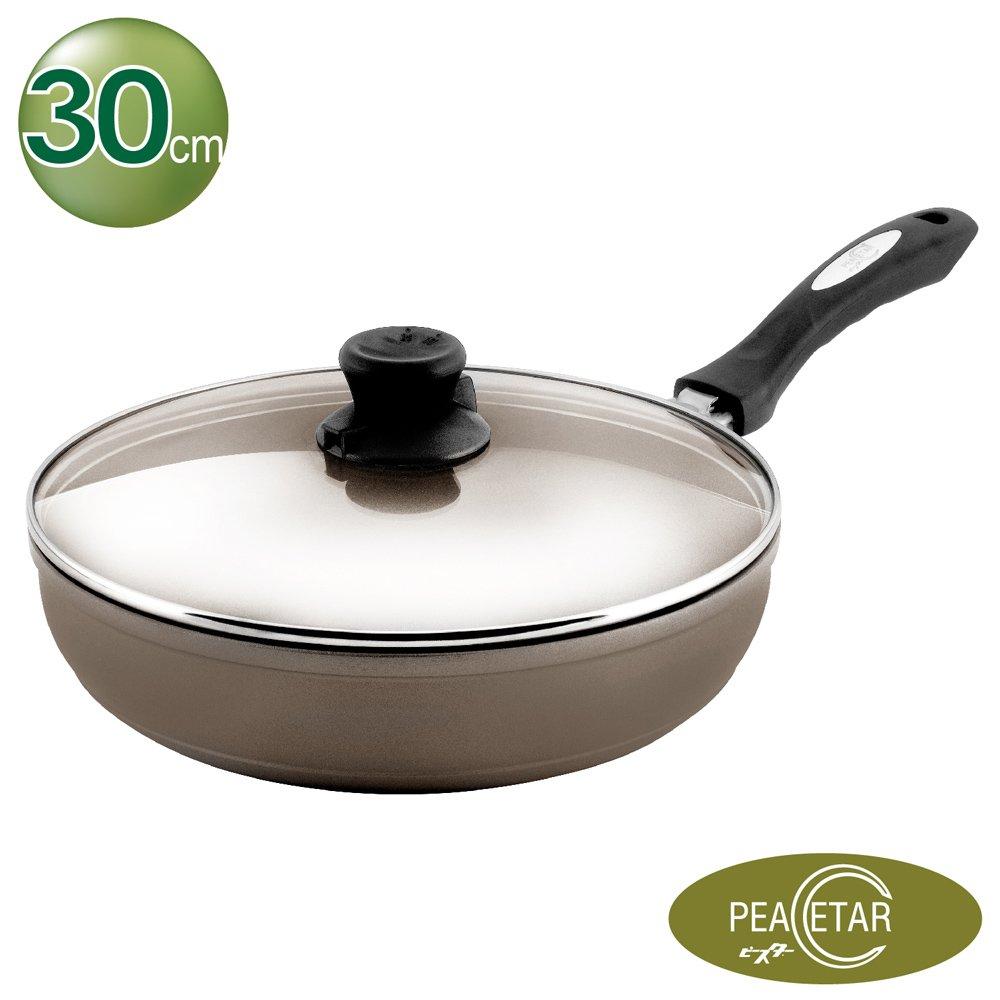 【Peacetar 必仕達】輕食二代平底鍋30cm-澳洲原礦手工鑄造(不沾鍋/深平底鍋/平底鍋)