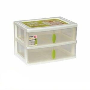 【收納屋】清靜居家2格收納盒 (一入)