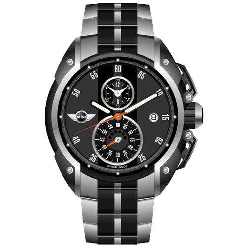 MINI Swiss Watches 經典原味 獨立秒圈腕錶(黑/45mm) MINI-09