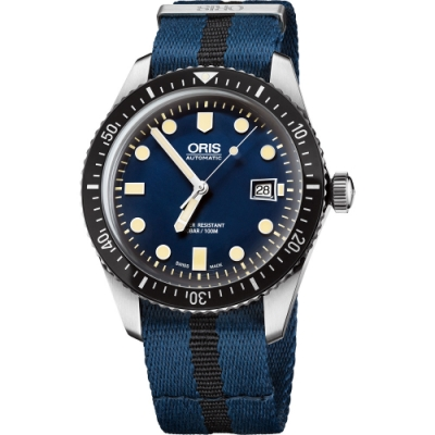 Oris Divers Sixty-Five 1965 復刻潛水系列機械腕錶-藍/42mm