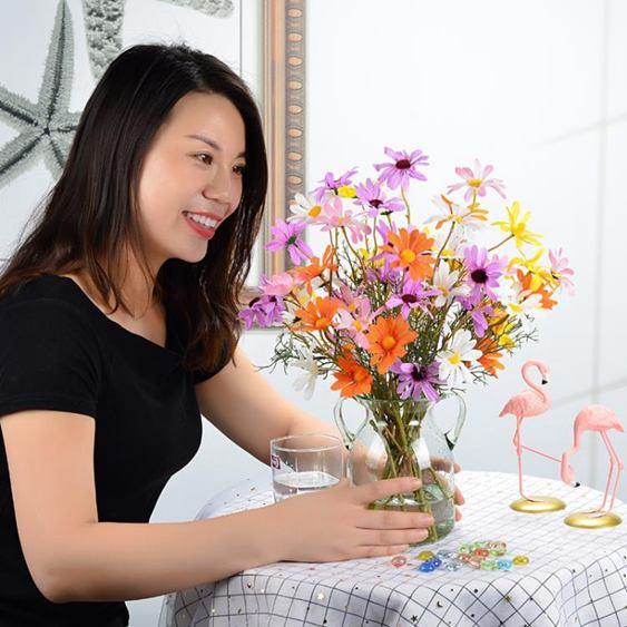 仿真花 雛菊仿真花假花套裝插花絹花裝飾花清新時尚簡約家居客廳臥室擺件全館促銷限時折扣