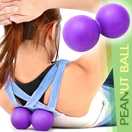 矽膠花生筋膜球(紓壓按摩球握力球.健身球彈力球瑜珈球.復健球安全球花生球)