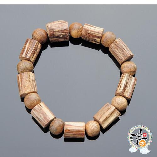印尼伊利安沉香木手鍊   +平安加持小佛卡   十方佛教文物
