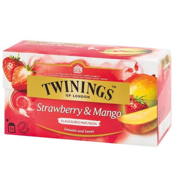 唐寧茶 twinings 草莓芒果茶(2gx25茶包)x3入組官方直營