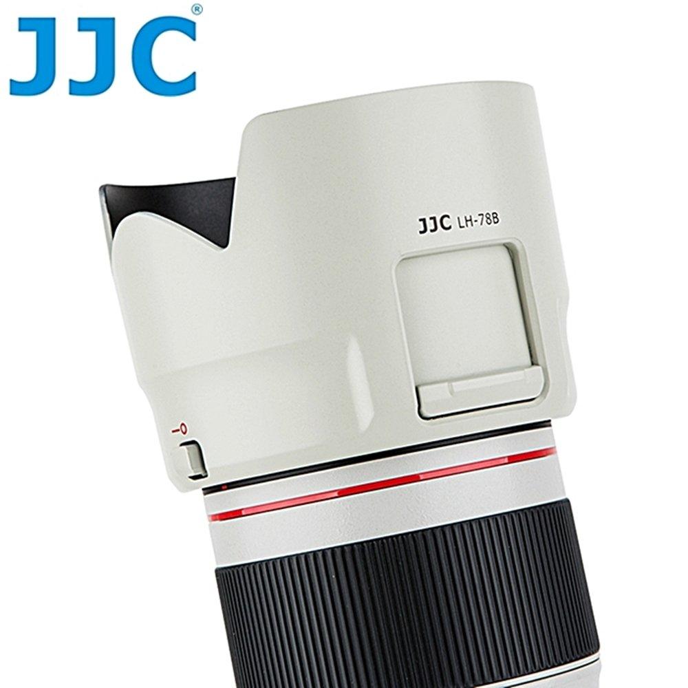 JJC副廠Canon遮光罩LH-78B相容佳能原廠ET-78B遮光罩