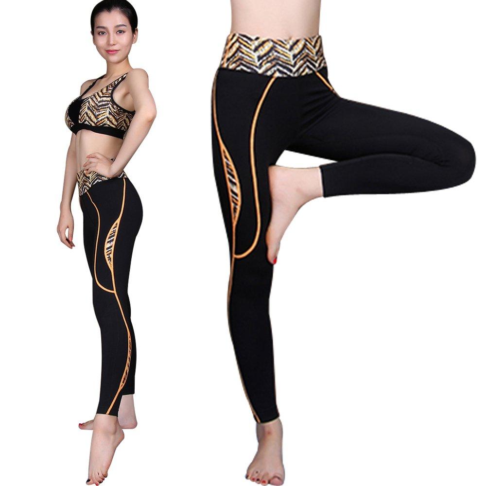 【Seraphic】完美曲線機能運動褲/瑜珈褲/緊身褲(幻彩橘)
