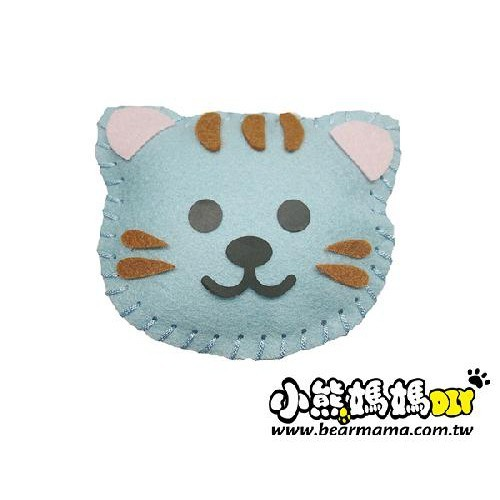 f1-01 打洞香包-小花貓  材料包 小熊媽媽
