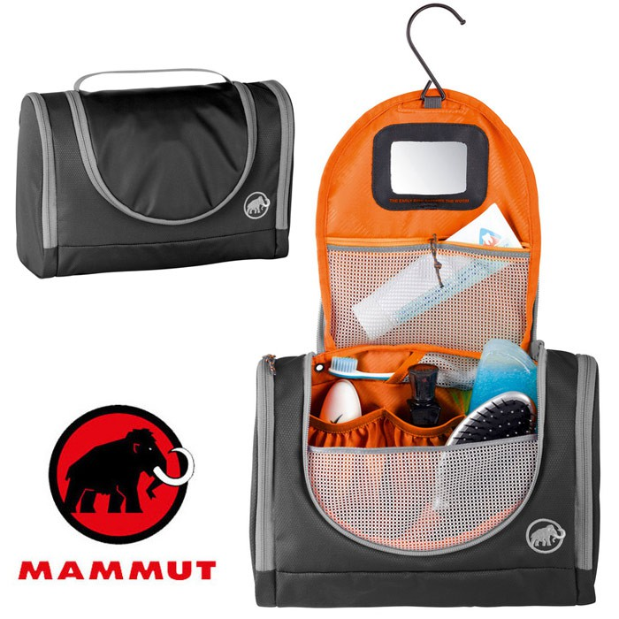 【Mammut 長毛象 瑞士】Washbag Roomy 旅行用可掛式盥洗包 旅行打理包 (00530-0001)