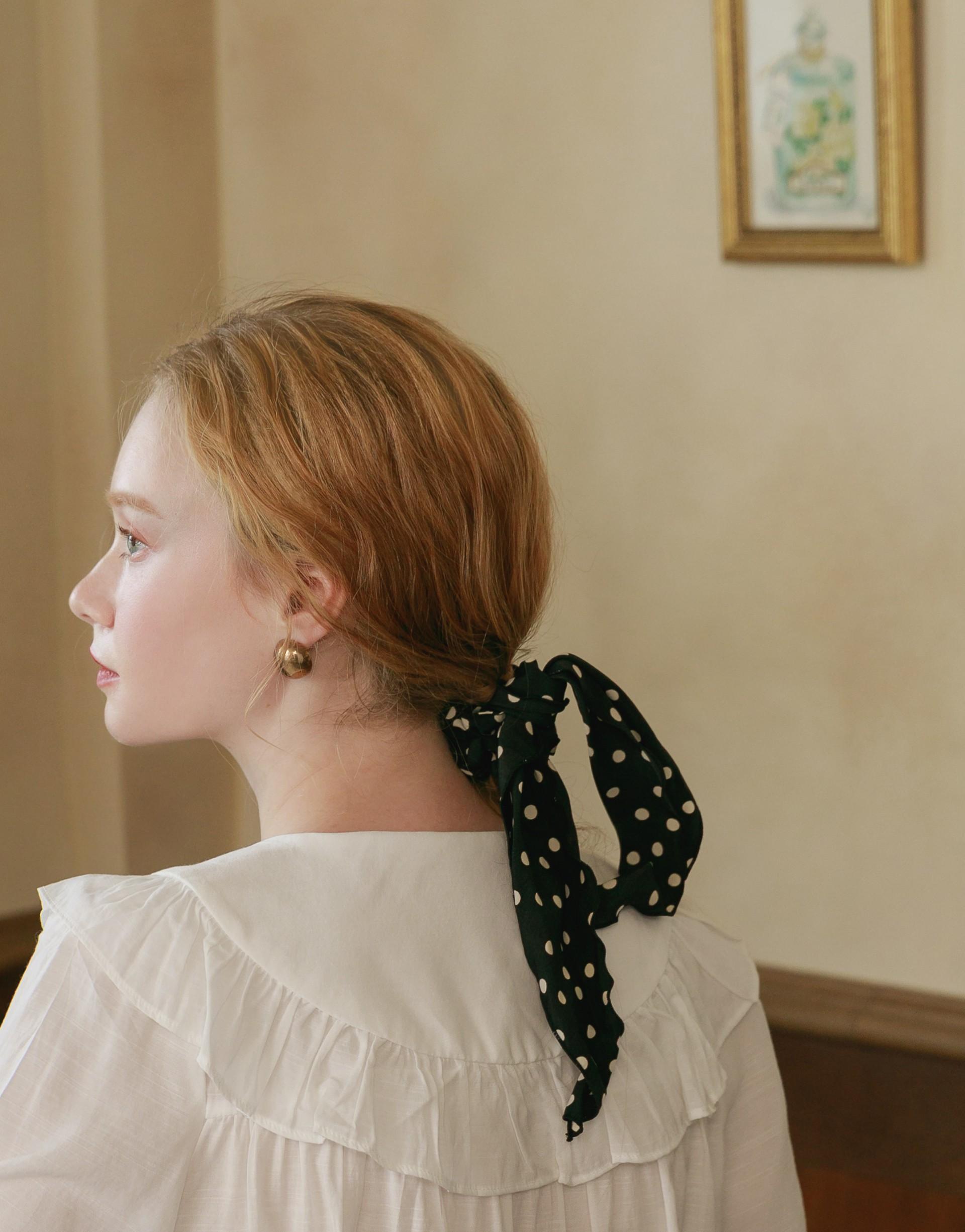 2WAY小法式復古點點髮飾-PAZZO