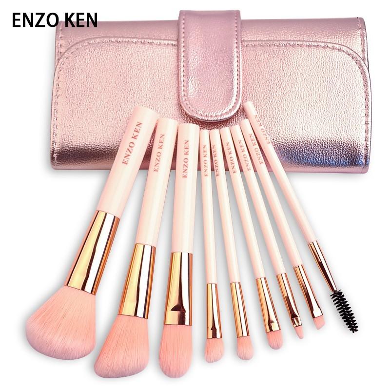 enzoken化妝刷套裝9支刷子初學者化妝套刷彩妝工具眼影刷全套粉刷