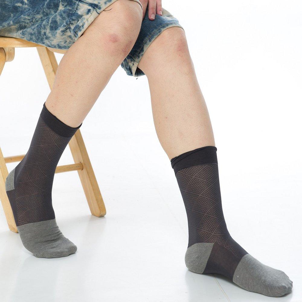 【KEROPPA】可諾帕奈米竹炭絲光棉紳士男襪x2雙C90006-深灰