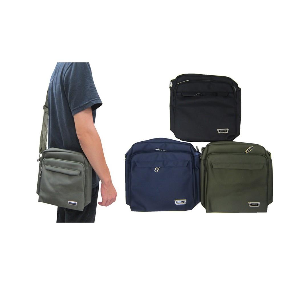 ~雪黛屋~jaze 側背中容量主袋+外袋共四層隨身物品外出旅行防水尼龍布材質肩背斜側背全齡適bopq