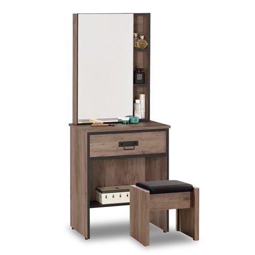 【時尚屋】[C7]哈麥德2尺化妝台-含椅子C7-501-2免運費/免組裝