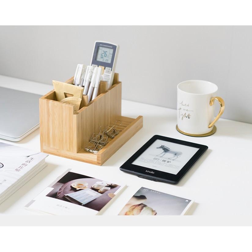 一件免運 筆筒創意時尚多功能桌面擺件小清新辦公用品文具簡約收納盒 - 笔筒 19.7*高11.3*寬